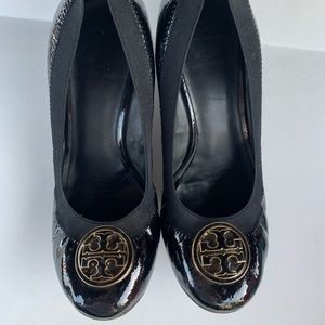 Tory Burch black wedges size 7.5